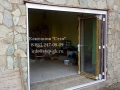 Раздвижные алюминиевые двери гармошки