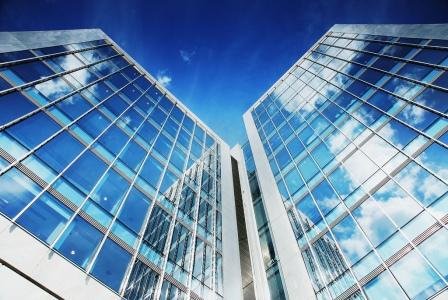 алюминиевый фасад здания