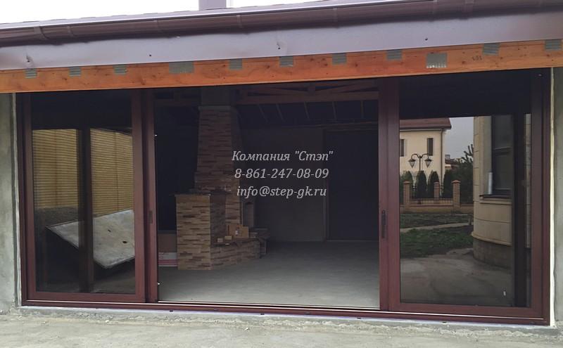 Алюминиевые раздвижные окна в Краснодаре