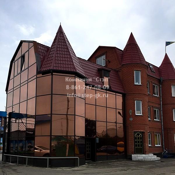 Фасад здания из алюминиевого профиля