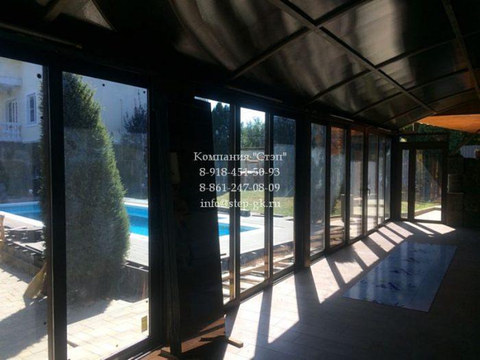 Заказать раздвижные двери Alumil S350 в Краснодаре