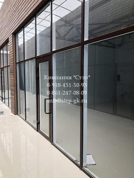 Алюминиевые перегородки с дверями заказать в Краснодаре