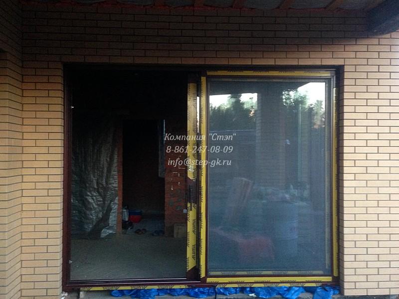 """Раздвижные стеклянные двери для террасы и дома от компании """"Стэп"""""""
