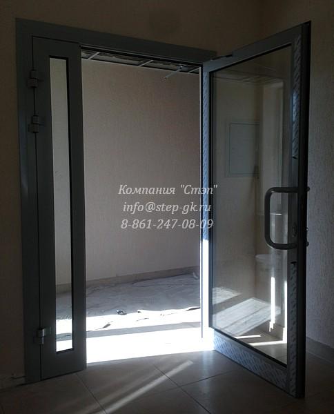 Алюминиевые двери в офис
