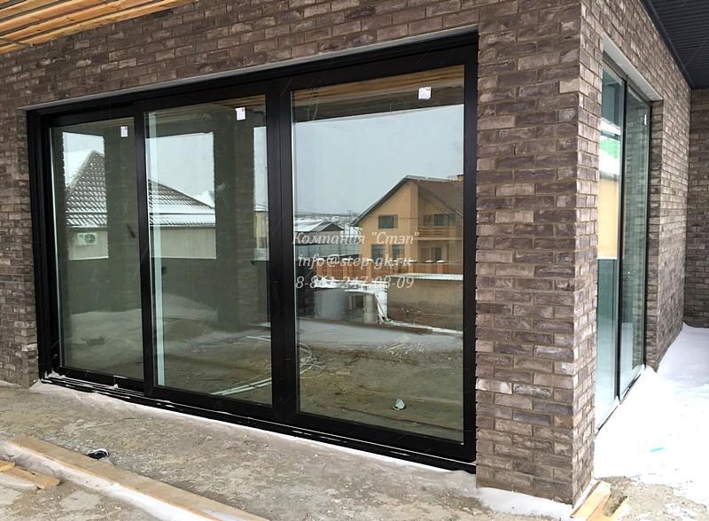 Раздвижные окна для частного дома в Краснодаре