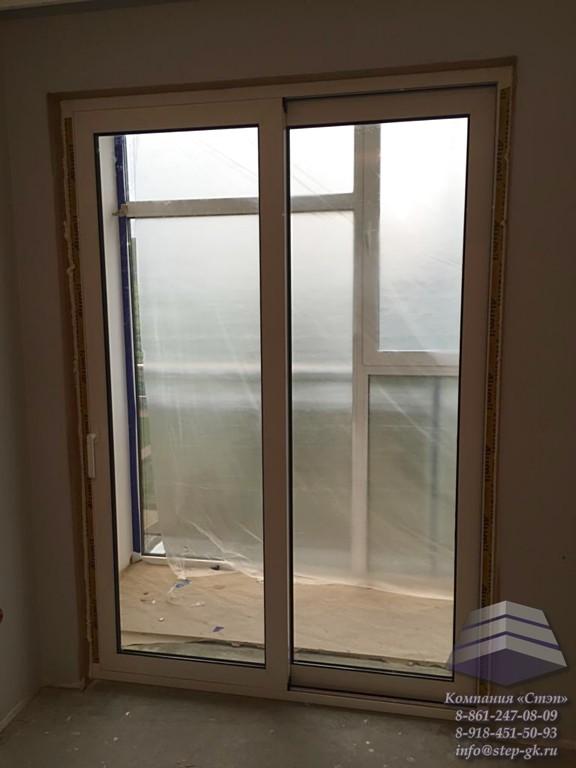 Алюминиевые раздвижные двери в Краснодаре