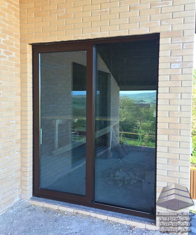 Изготовление раздвижных дверей и окон из алюминиевого профиля