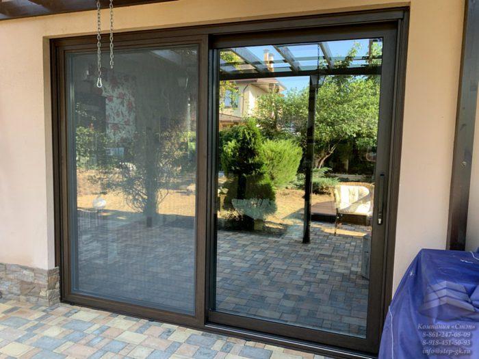 Алюминиевые раздвижные двери Сочи